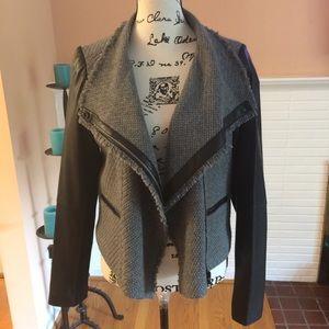 Vince Genuine Lambskin Leather/100% Wool Jacket